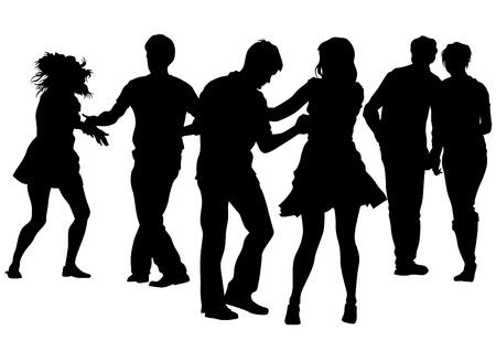 bailarines silueta: Bailarina en traje de teatro sobre un fondo blanco