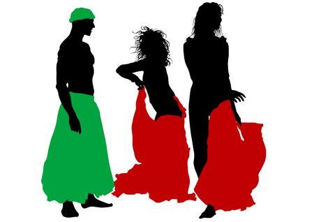 bailarinas arabes: Bailarina en traje de teatro sobre un fondo blanco