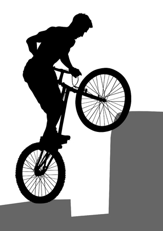 whit: Sport man whit bike on white background