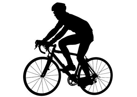 sport man: Sport man whit bike on white background