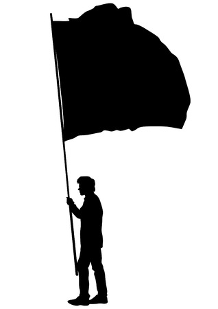 manifest: Group of people with flags on white background