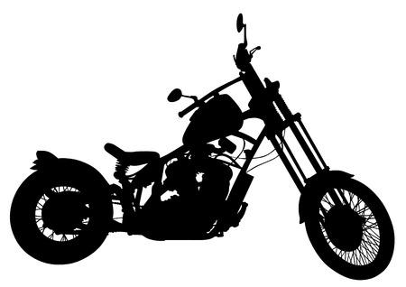 motorized: Big motor bike on white background