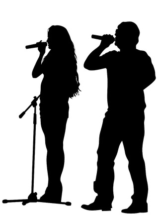 musicians: Musicians style of rap on white background