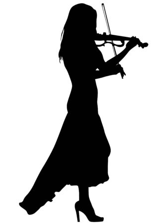 violoncello: Girl with violin on a white background