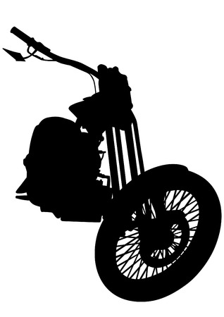 motor bike: Old motor bike on white background