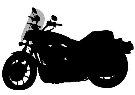 motorized: Old motor bike on white background