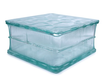 glass block: Glass block for building on white background