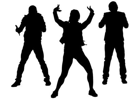 hip hop dancer: Hip hop dancer on white background
