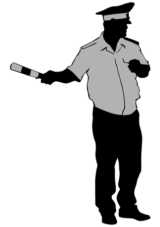 special operations: People of special police force on white background