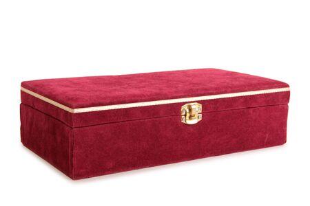 Vintage boîte rouge sur un fond blanc Banque d'images - 62283184