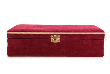 Vintage boîte peinte sur un fond blanc Banque d'images - 62775166