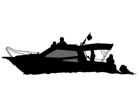filibuster: Big retro ship on white background Illustration