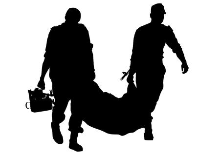 soldats modernes en uniforme sur un fond blanc