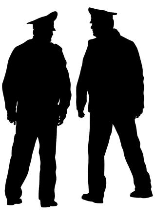 Die Leute von speziellen Polizei auf weißem Hintergrund Standard-Bild - 76159928