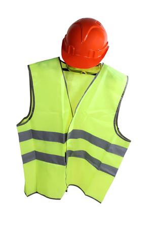 Orange Construction Helmet And Vest Photo