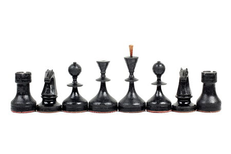 piecies: Chess pieces and board on a white background