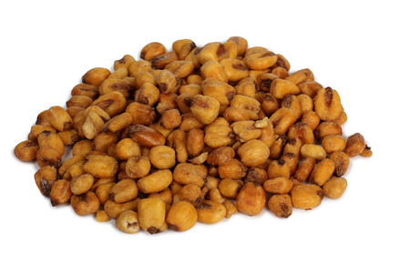 Nuts and seeds for eating on white background