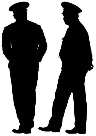 Die Leute von speziellen Polizei auf weißem Hintergrund Standard-Bild - 81659662