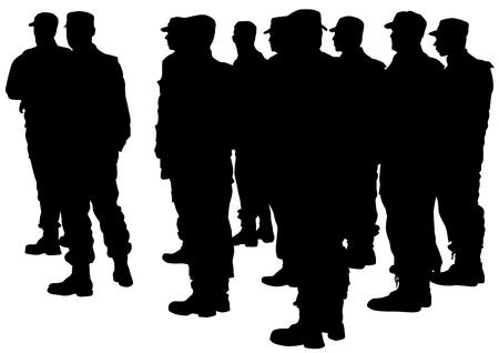 Menschen der speziellen Polizei trainieren auf weißem Hintergrund Standard-Bild - 82799110