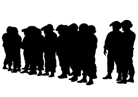 People of special police force illustration.