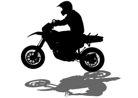 Sport motor bike on white background