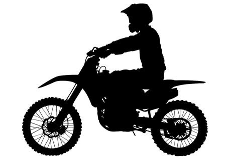 Sport motor bike on white background 向量圖像