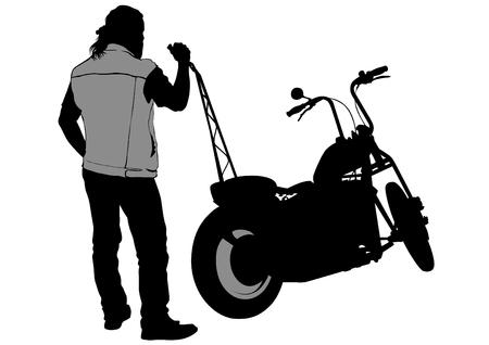Old big bike Illustration
