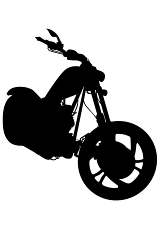 Old big bike on white background Vectores