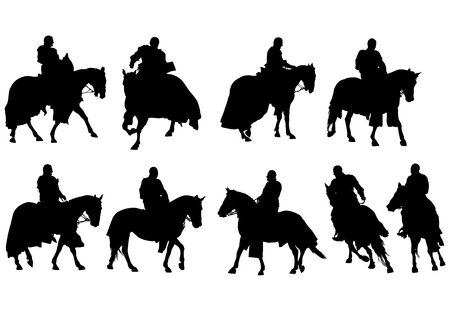 Man  on horseback on a white background
