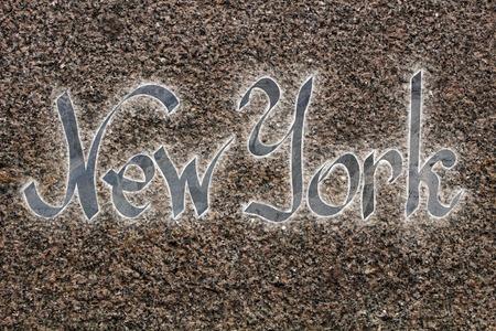 New york logo on the granite slab background