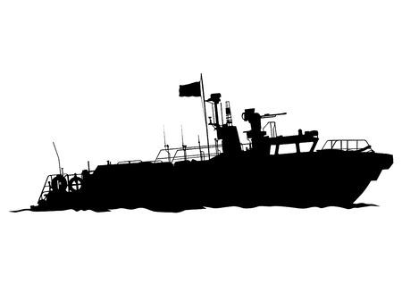 Sports motor boat on white background 矢量图片