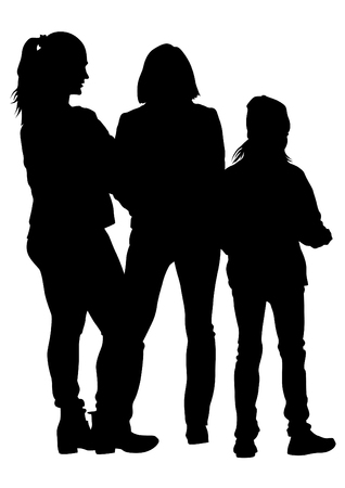 Families with little child on white background Archivio Fotografico - 111396048