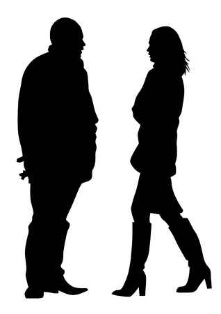 Couple of young guy and girl on white background Imagens - 111395928