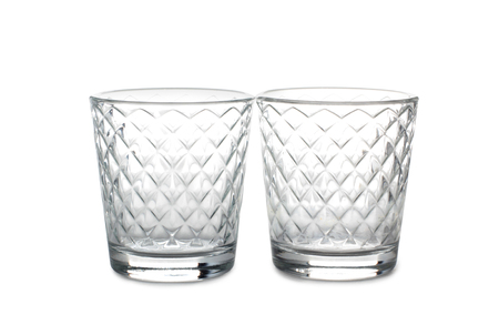 Vintage glass goblet on white background 스톡 콘텐츠