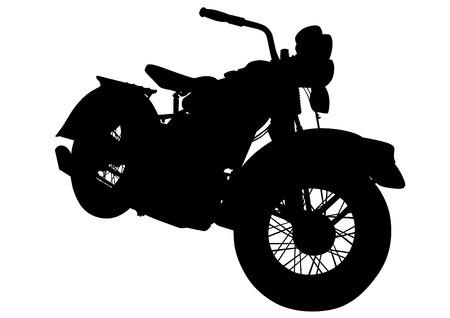 Old big bike on white background Illustration