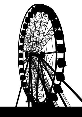Big ferris wheel on a white background
