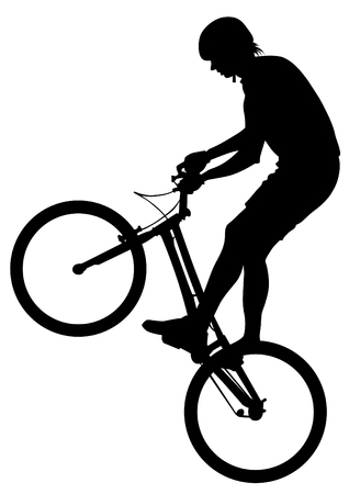 Sport people whit bike on white background 向量圖像
