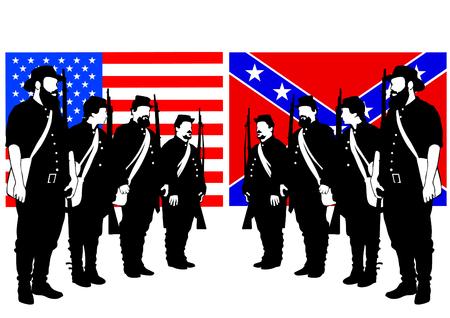 Amerikanische Soldaten in Uniform
