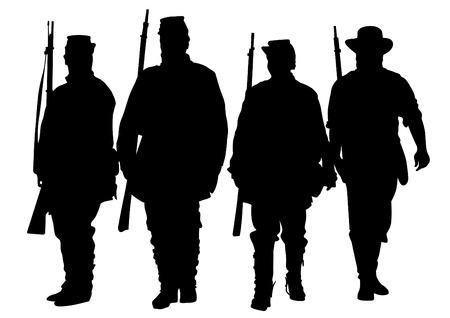 Soldats américains en uniforme