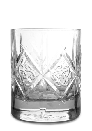Vintage glass goblet on white background Standard-Bild