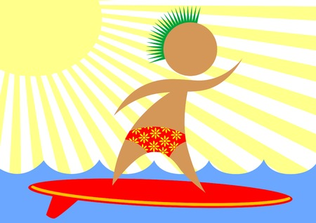 People in swimwear with a surfboard on the background of the sea Foto de archivo - 121552598
