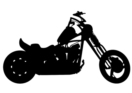Old big bike on white background