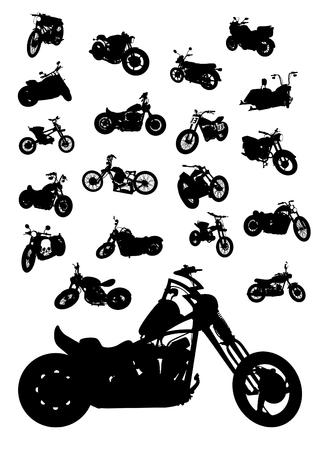 Old big bike on white background Ilustração