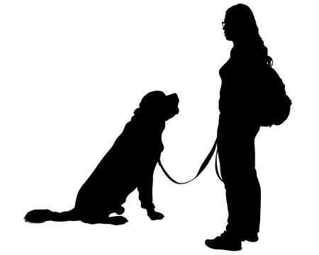 Dogs on a white background Vektorové ilustrace