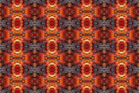 Fire flame seamless pattern on dark background