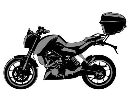 Motocicleta deportiva sobre fondo blanco. Ilustración de vector