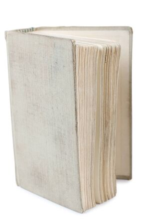 Old classic book on white background