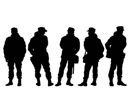 Special police forces on white background Ilustrace