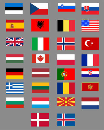 Set of flags of the countries. Isolated objects 写真素材 - 154071223