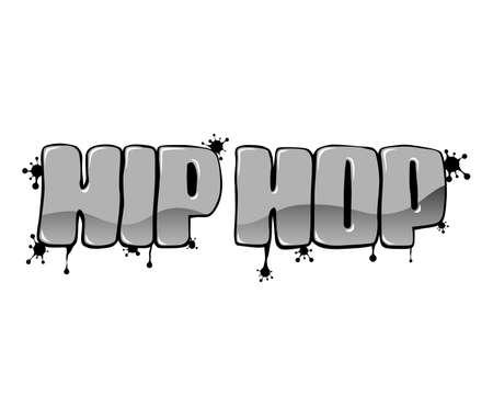 Hip hop graffiti on white. Art street background